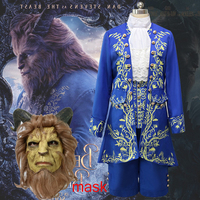 HOT! Movie Prince Beauty and The Beast cosplay costume Halloween costumes for adult Halloween Carnival Party outfit cosplay Suit