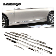 6 Pcs/set Stainless steel Chrome Car Side Door Body Strips Trim Cover For BMW 5 Series F10 F11 2010-2016 Auto Accessories