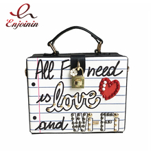 New arrival fashion letter diamonds pearl rivet box shape casual female handbag party purse ladies crossbody messenger bag