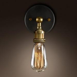Image 2 - Konesky בציר לופט מתכוונן תעשייתי מתכת קיר אור רטרו פליז מודרני מנורת קיר בסגנון כפרי פמוט מנורת גופי