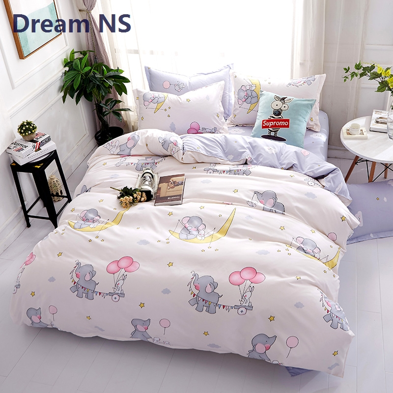 Dream NS Elephant Cartoon Bedding Set Rabbit Housse de Couette King ...