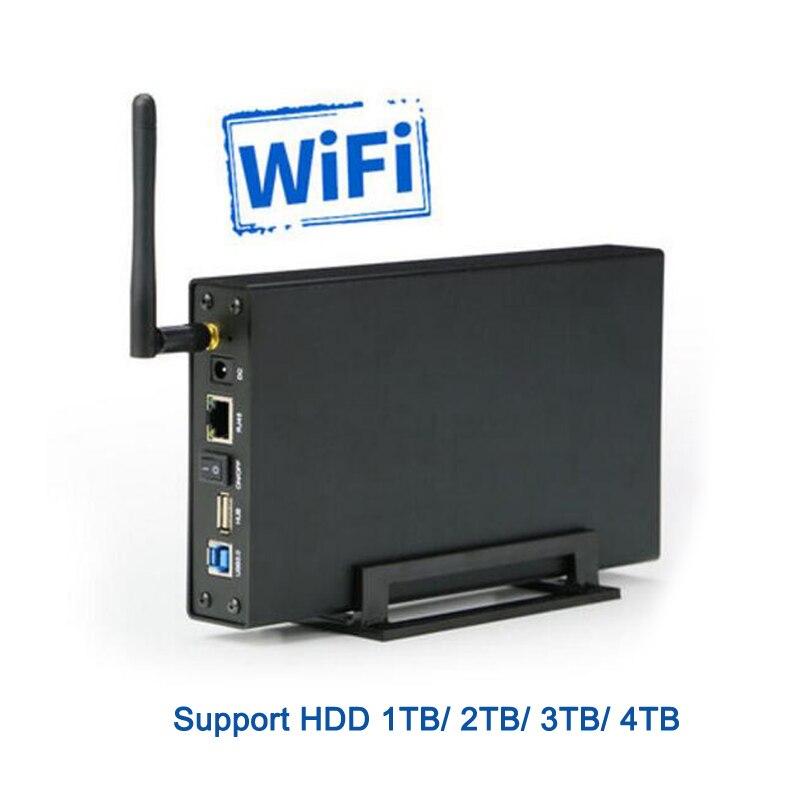 Boîtier de disque dur en aluminium Caddy avec 2 to HDD Version anglaise stockage Wifi nouvelle conception routeur Wifi SATA USB 3.0 HDD boîtier U35WF