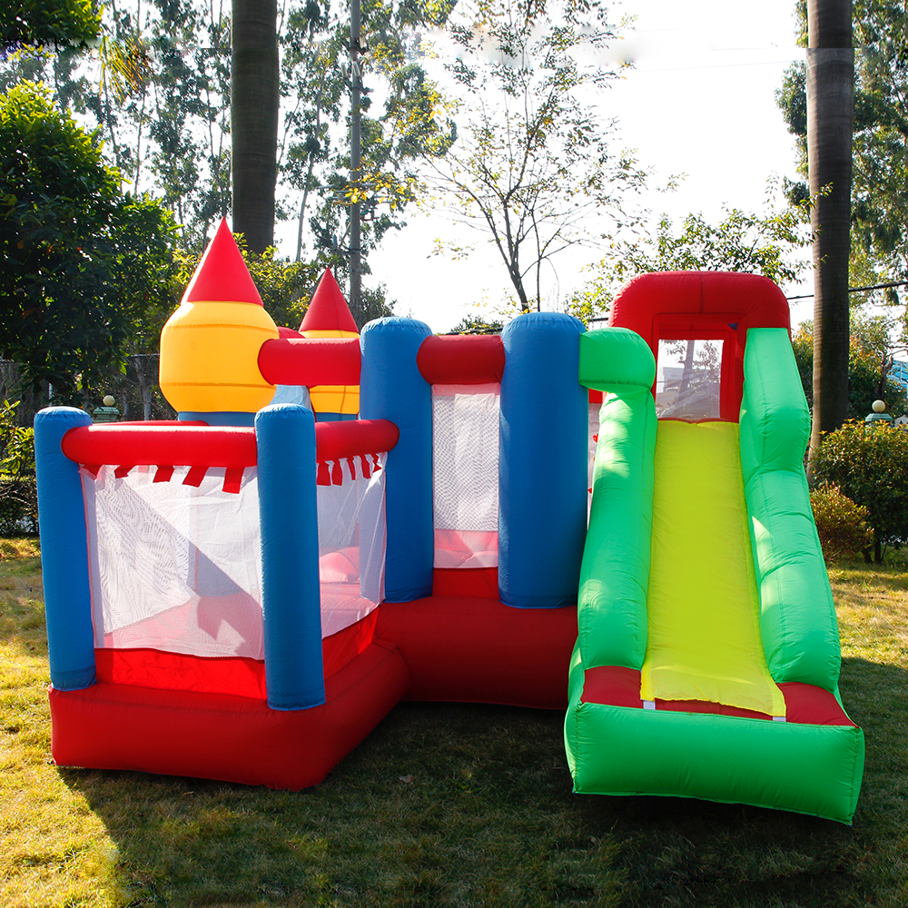 цена на YARD Inflatable Games Castle Bouncer House Jumping Slides Free PE Balls InflatableTrampolines Oxford PVC Kids Children Bouncer