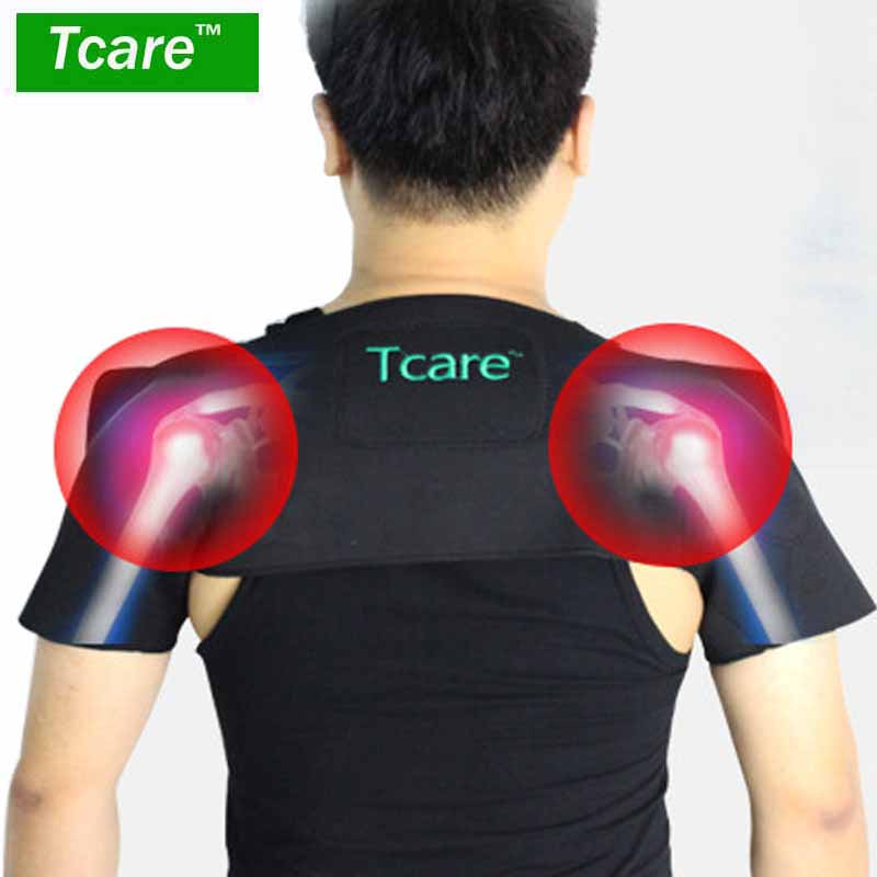 Tcare Tourmaline Self Heating Shoulder Belt Pain Relieve Magnetic Therapy Shoulder Protection Spontaneous Heating Massage Care body care beauty tourmaline heating belt neck shoulder massage heating pad health care massage belt with tourmaline stone