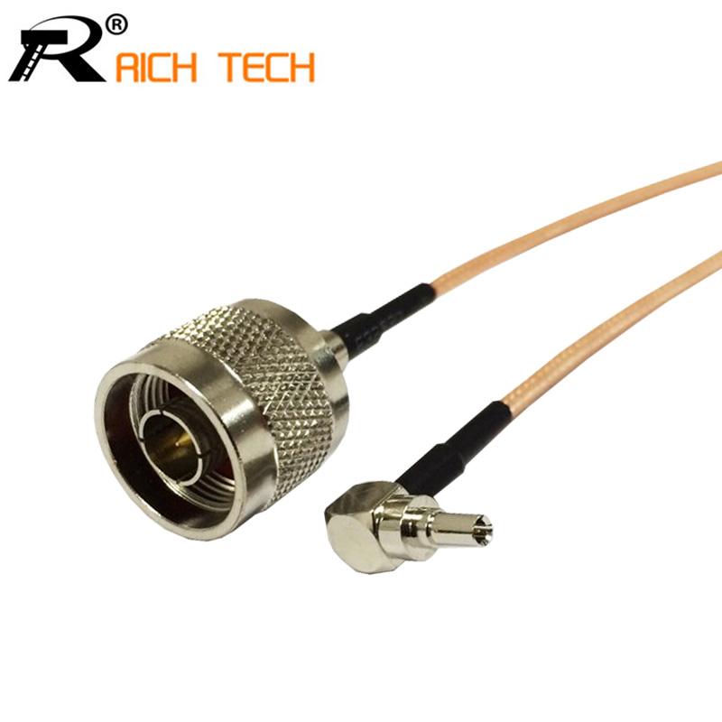 3G modem cable CRC9 male right angle switch N type male pigtail cable RG316 jx sma female to 2 x crc9 or ts9 connector splitter combiner y type cable pigtail 15cm for huawei zte 3g 4g modem antenna