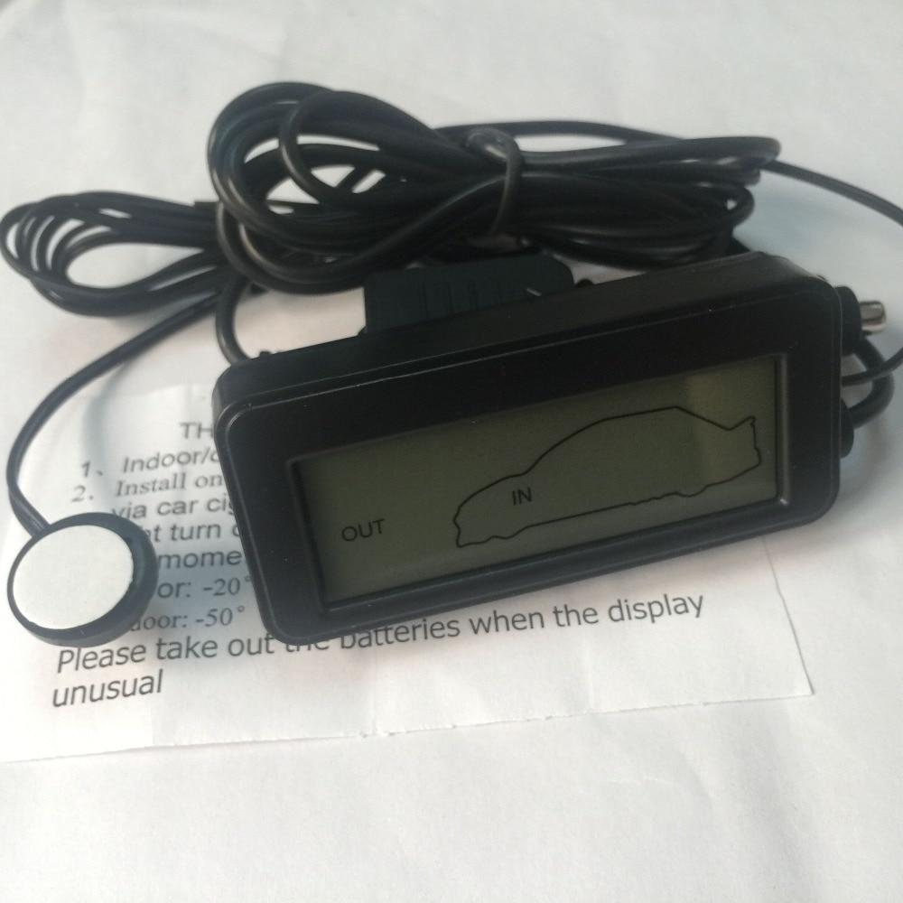 DC 12V Termómetro digital para coche Negro Mini LCD Interior del - Instrumentos de medición - foto 6