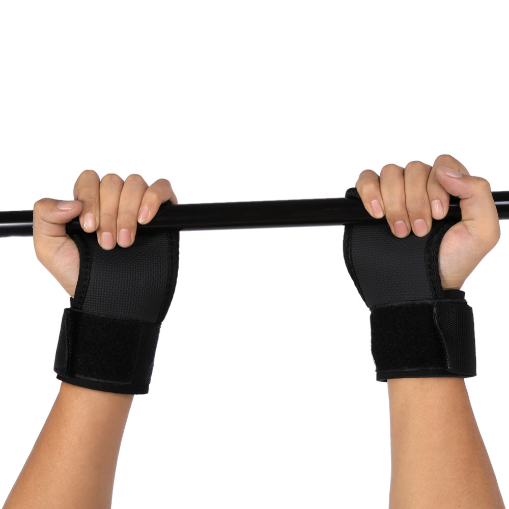 Glorious Black Anti Skid Weight Lifting Gloves Gym Weightlifting Wristbands Fitness Exercise Training Half Finger Gym Gloves 2pcs /pair Sports & Entertainment Fitness Gloves
