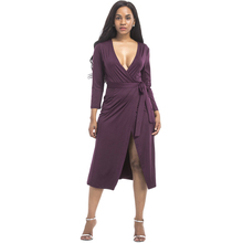 2017 Sexy Deep V Neck Wrap Dress Women Solid High Elasticity Beach Dresses Summer Short Boho Dress Femme Plus Size vestido curto