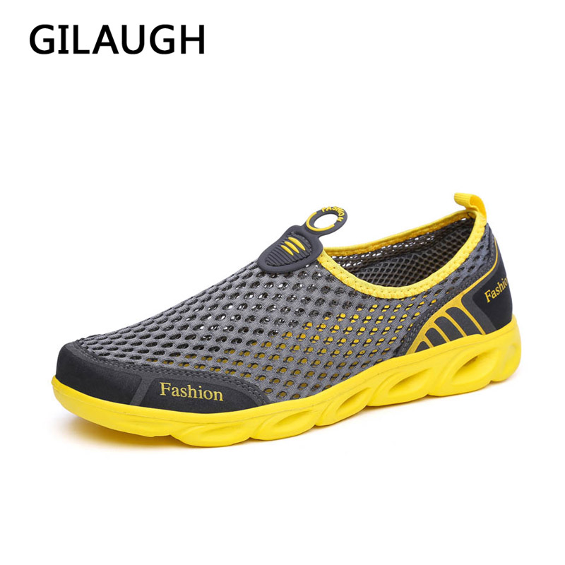 Summer Men Shoes 2017 Fashion Brand Light Comfortable Mesh Shoes High Quality Breathable Men Casual Shoes
