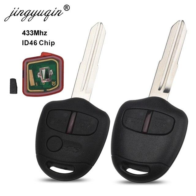 Jingyuqin 5pcs 2/3 Tasten Remote key Für Mitsubishi 433Mhz Chip ID46 Für Mitsubishi L200 Shogun Pajero triton Schlüssel Fob MIT11 MIT8
