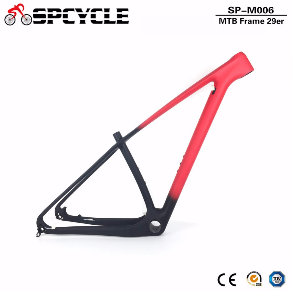 T1000 27.5er 29er MTB Mountain Bicycle Carbon Fiber Frames,650B Bike Carbon Frames,Thru Axle 142*12mm Or 135*9mm 15