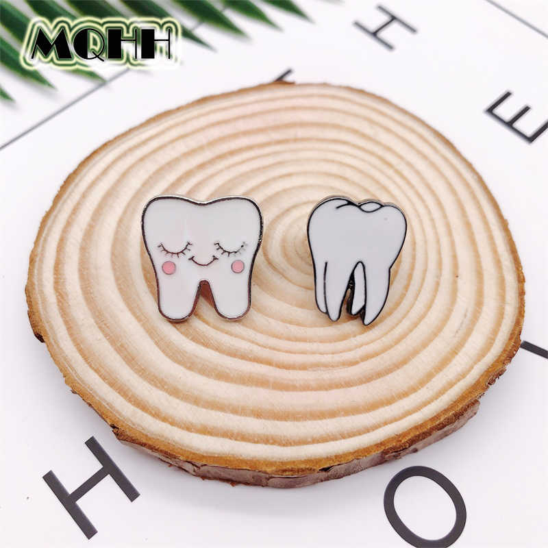 Cartoon Teeth Enamel Brooch Medical Organ Expressions Alloy Badge Denim Shirt Bag Pin Jewelry Accessories Gifts For Friends