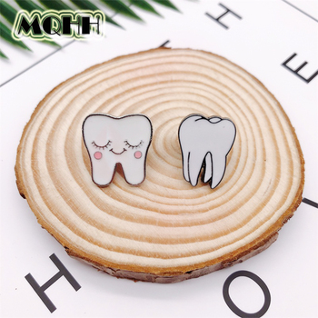 Эмалированная брошка в виде зубов из мультфильма, медицинский знак из сплава, значок, сумка для джинсов, аксессуары для ювелирных изделий, подарки для друзей