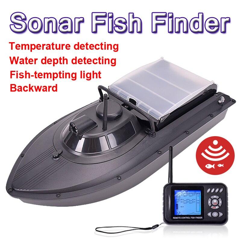 PDDHKK 2BD outil de pêche RC appât bateau jouet double moteur télécommande Sonar poisson Finder batterie Rechargeable sans fil RC bateau