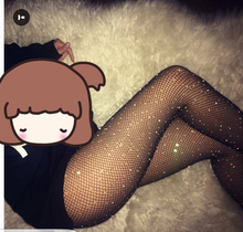 Women Stocking Rhinestone Collant Femme Lenceria Diamond Sexy Tights Transparent Fishnet Stockings Pantyhose Drop Shipping SW065
