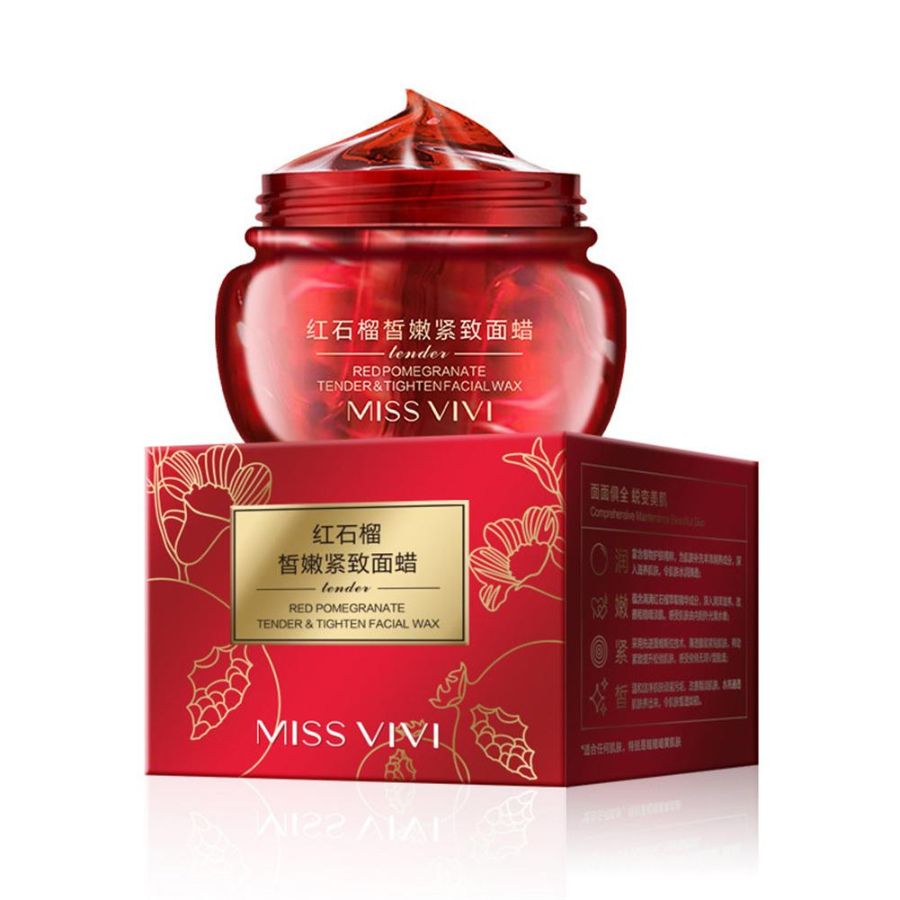 Red Pomegranate Peel Off Face Wax Mask Shrink Pores Remove Acne Blackhead Whitening Moisturizing Lifting Tear Off Facial Mask 目