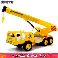 Diecast Inertial Crane Toy Engineering vehicles Boys Toys Mini Pull Back Construction Car Model Toy Classic Gift for Children