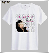 Funny Pop Singer Lady Gaga Print T Shirts for Men Plus Size O Neck Short Sleeve Cotton Tee S-3XL