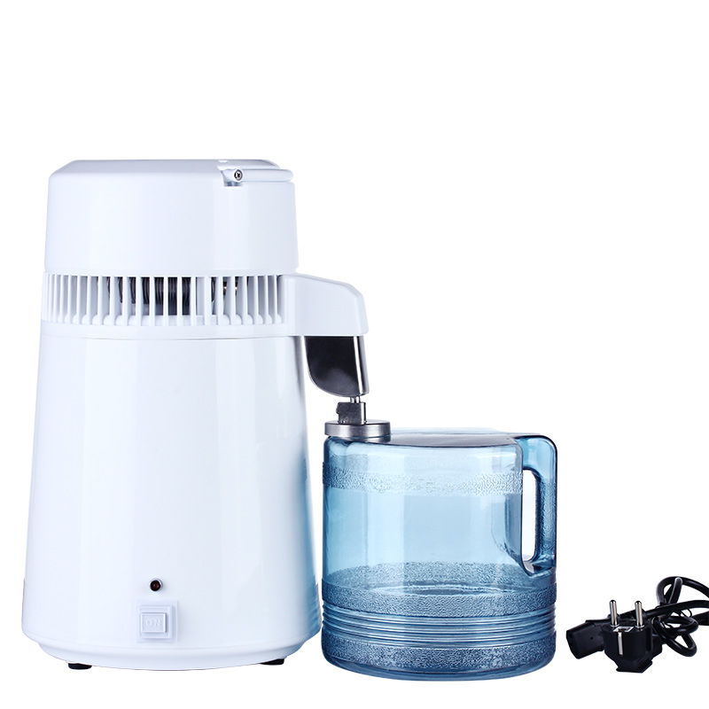 4L Water Distiller Distilled Water Machine Distillation Purifier Stainless Steel Water Filter Russian Instructions dmwd household water distilled machine pure water distiller filter electric distillation purifier stainless steel 110v 220v 4l