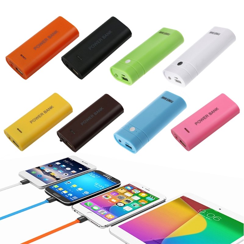 New Portable 18650 External Battery USB Charger Power Bank Case Cover