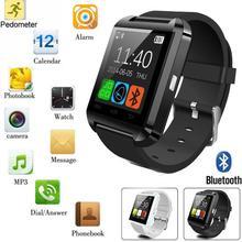 Reloj u8 u reloj bluetooth reloj inteligente para samsung htc lg empuje mensaje conectividad bluetooth del teléfono android