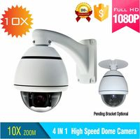 1080P TVI Output High Speed Dome Camera 10X Zoom Pan Tilt Mini Outdoor Ptz Dome Camera