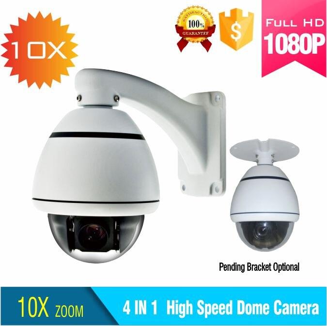 2.0MP AHD cctv PTZ vitesse dôme caméra extérieure et intérieure panoramique/inclinaison 10X zoom 1080 p AHD ptz caméra de sécurité coaxiale contrôle de câble