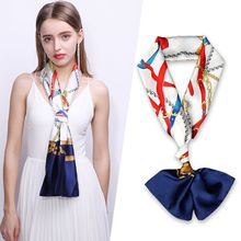 15X145CM New Design narrow small long silk scarf for women Korean double-sided neck fashionable tie belt hair