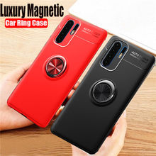Luxury Shockproof Car Ring Phone Case For Huawei P30 P20 Lite P Smart 2019 Magnetic Stand Cover For Huawei P30 P20 Pro Soft Case(China)