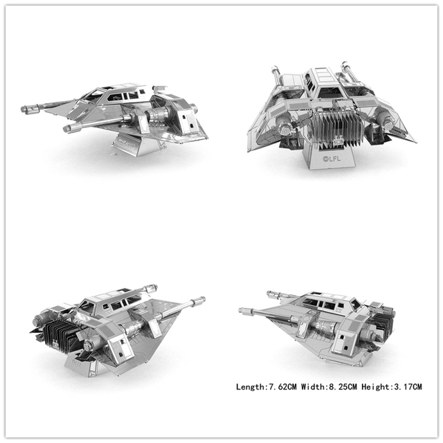 Star Wars 3D Assembled Metal Earth Model Millennium Spinner Falcon BB8 R2D2 Creative toys Classic Best Puzzle DIY Craft GIFT DIY