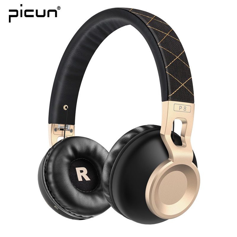 Picun Bluetooth Headphones Wireless Earphone Stereo Headset Bass Music Headphone Foldable Earphones with Mic For iphone Xiaomi new products picun c6 stereo headphones earphone with mic best bass foldable headset for iphone 6s pc mp4 xiaomi huawei meizu