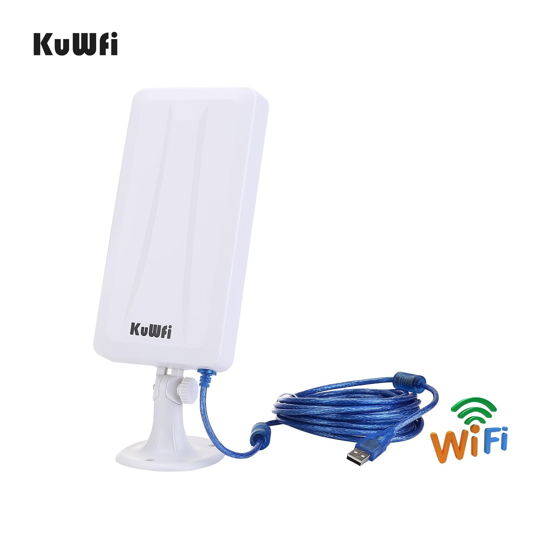 Routeur sans fil KuWFi 300mbps + adaptateur Wifi USB haut Gain 300Mbps routeur Wifi haute puissance un ensemble étendre le Signal Wifi partager 32 utilisateurs - 6