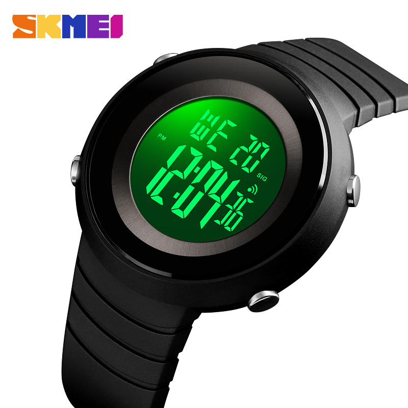 Useful Skmei 1236 Led Digital Watch Men Waterproof Compass Wrist Watches Men Luxury Brand Military Outdoor Sport Clock Mens Wristwatch Complete In Specifications Men's Watches