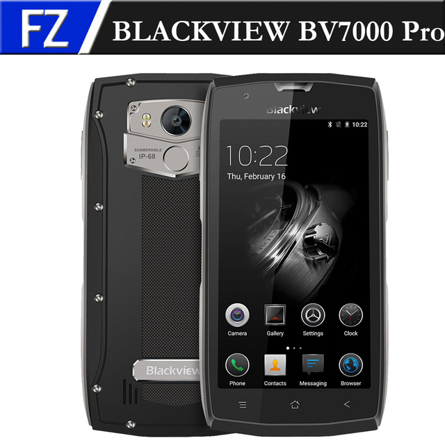 """BLACKVIEW BV7000 Pro IP68 Waterproofing 5.0"""" FHD MTK6750T Octa-core Android 6.0 4G Phone 13MP CAM 4GB RAM 64GB ROM IP68 Type-C"""