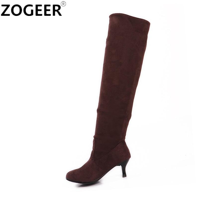 Plus Size 43 Women Thigh High Boots 2017 Autumn Fashion ...