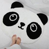 Thicken microfiber Panda bath mat,cute doormat mats slip resistant shower mat, anti slip floor pad ,children room mat