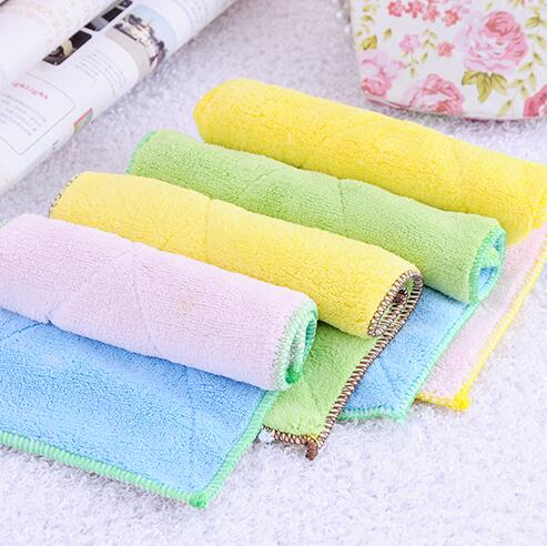 High Household Cleaning Cloths 5 Color Dish Cloth Bamboo Fiber Washing Towel Magic Kitchen Cleaning Wiping Rags 16.5*29cm