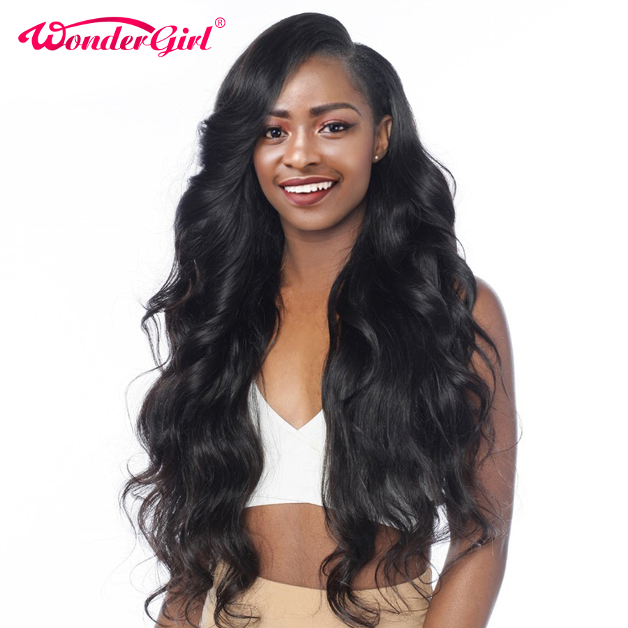 Wonder girl 22.5″x5″x2″ 360 Lace Frontal Wig Pre Plucked Body Wave Wigs For Black Women 100% Human Hair Peruvian Non-remy Hair