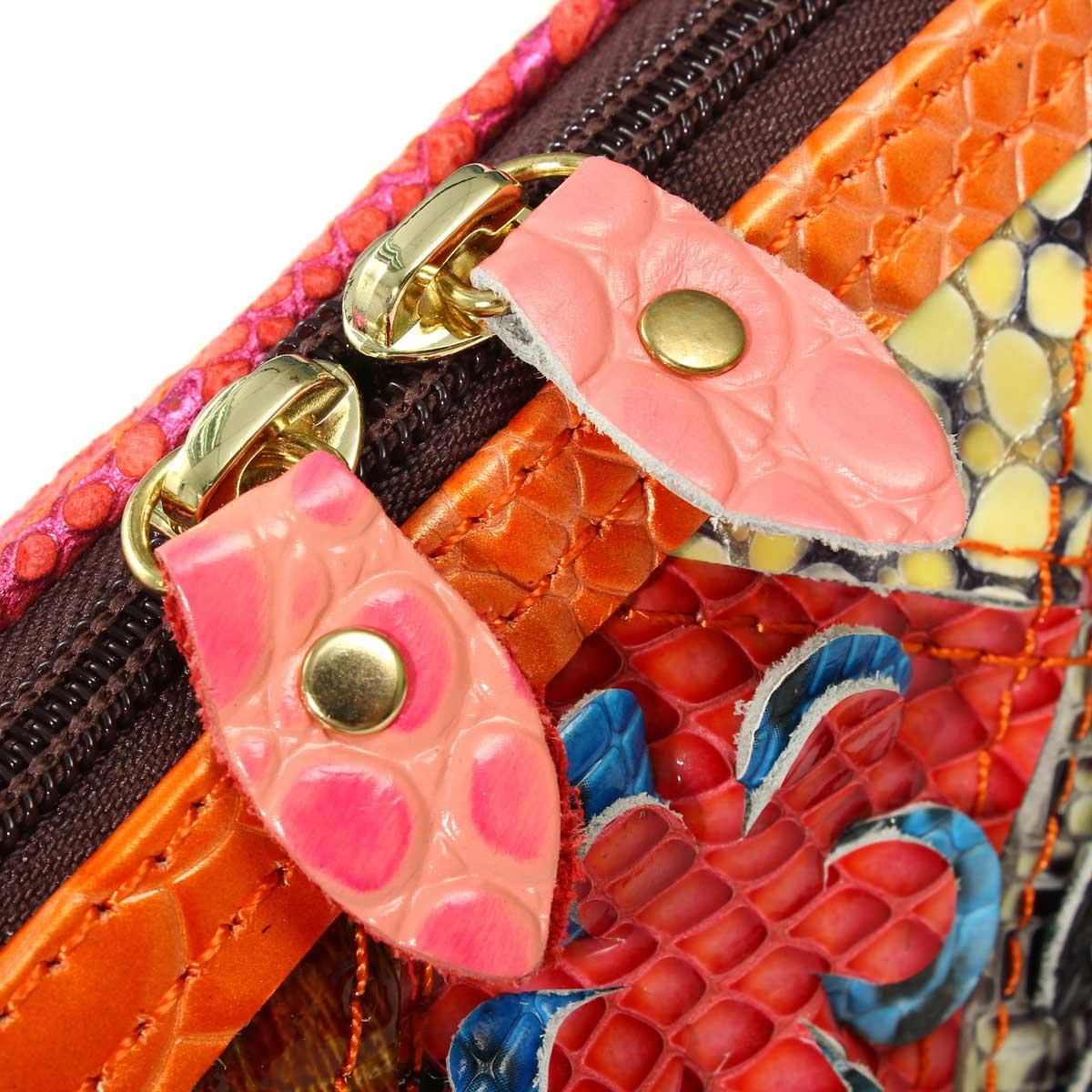 genuíno sacolas do homensageiro do Bag Estilo 1 : Patchwork Women Leather Handbags Ladies Bag