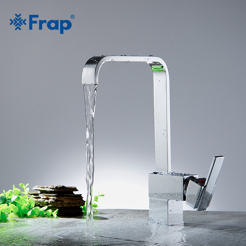 Frap High Quality 1 Set Kitchen Faucet Mixer Water Tap Single Holder Single Hole Grifo Rotation Rubinetto Cucina Faucets Y40030