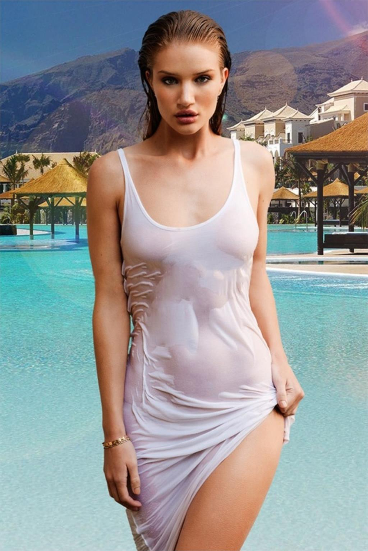 Hot Belle Rosie Huntington Whiteley Sexy Wet Body Photo -7858