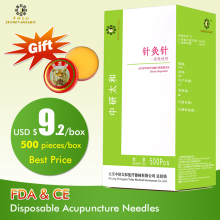 Stora storlekar 500pcs / box Zhongyan Taihe Acupuncture Needle Disposable Needle skönhetsmassage nål