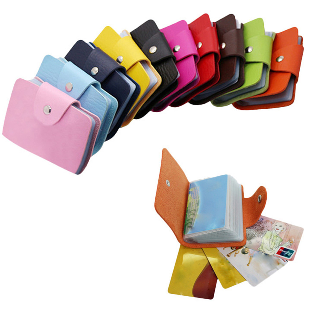 2019 New Men's Women's Card Case Wallet Leather Visiting Handbags Credit Card Holder Business Package
