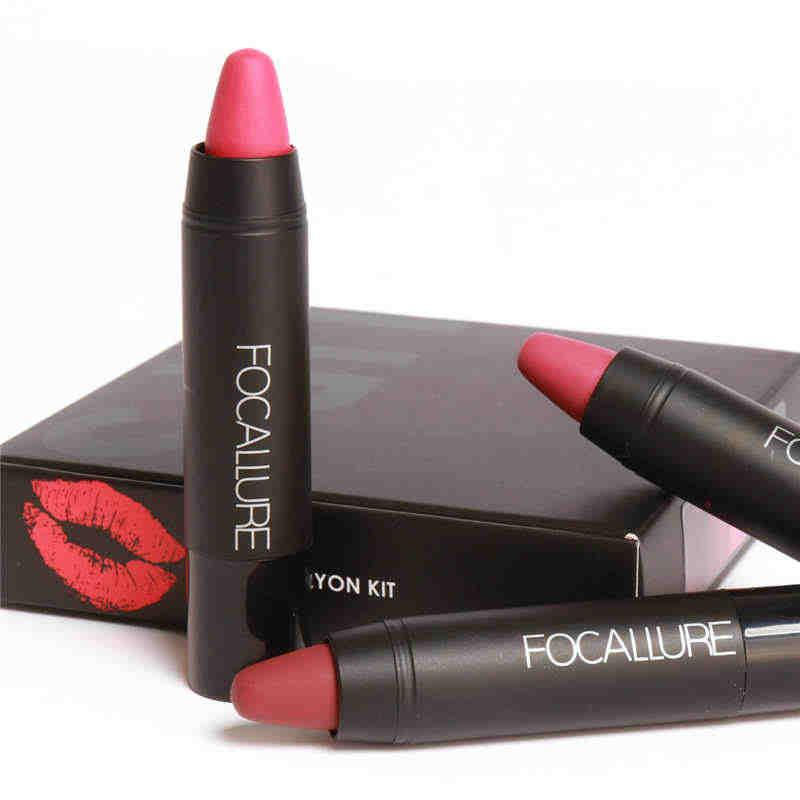 Focallure rouge à lèvres 3 pièces/ensemble longue durée hydratant rouge à lèvres étanche lèvres cosmétiques beauté lèvres maquillage