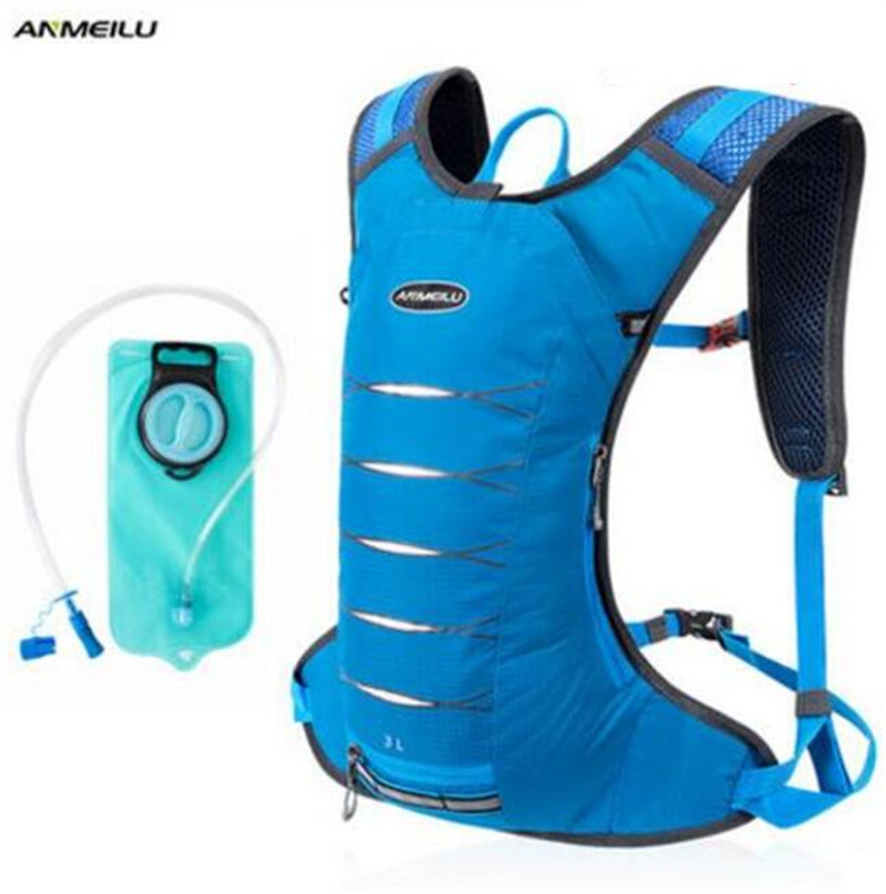ANMEILU 3L Bike Bag MTB Road Cycling Backpack Hydration Climbing Camping Bicycle Bags Camelback Bladder Outdoor Sports Pack topeak outdoor sports cycling photochromic sun glasses bicycle sunglasses mtb nxt lenses glasses eyewear goggles 3 colors