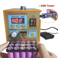 SUNKKO 788H USB Battery Spot Welder USB Charge Test LED Lighting 220V 110V Spot Welding Machine