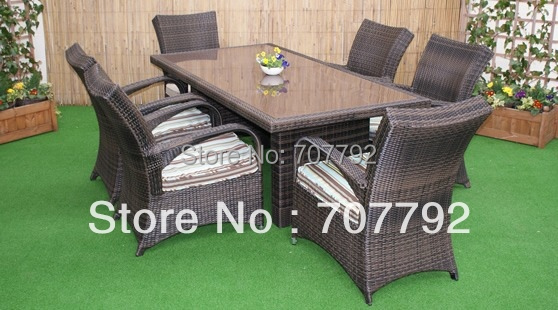 2017 patio rattan furniture outdoor dining set tables and chairs