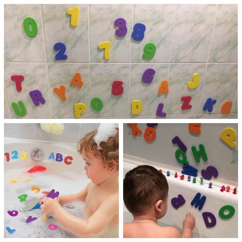 36pcs Set Soft Eva Baby Bath Toys Alphabet Figure Bath