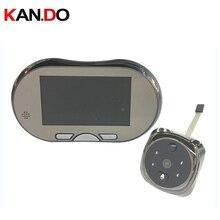 160 degree lens motion detector video door bell 4 3 Lcd video Door Camera Doorbell peephole