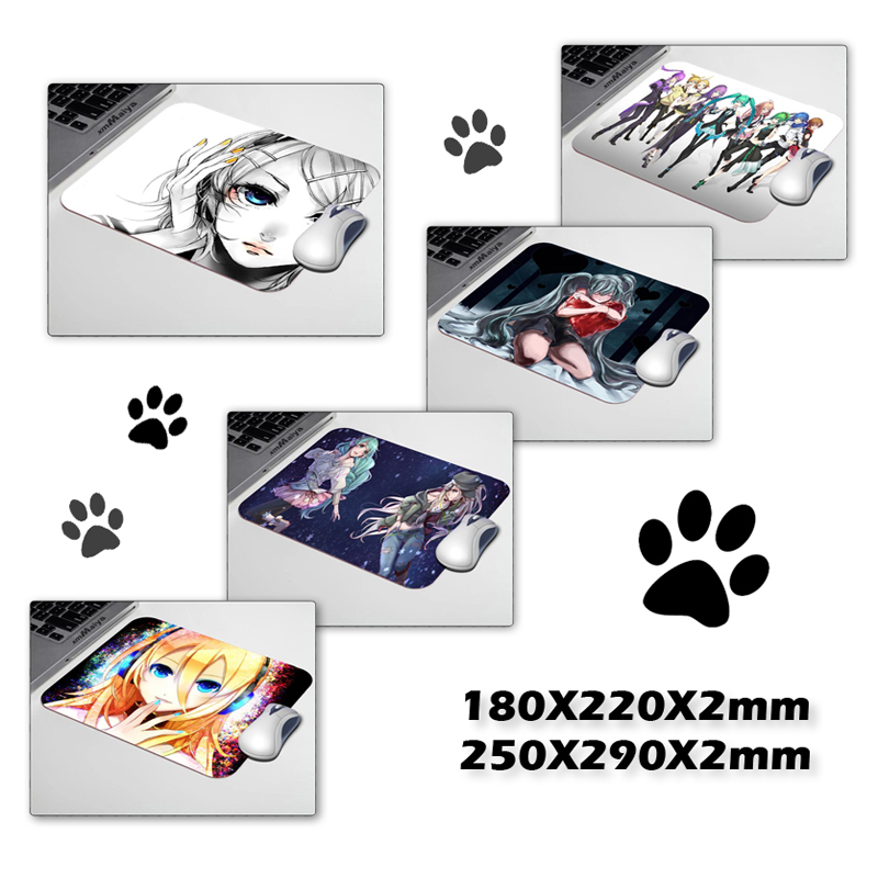 Vocaloid anime Amines Mouse Pad Computer Gaming Mouse Pad 180mmX220mmx2mm and 250x290mm Gamer Mouse Mats